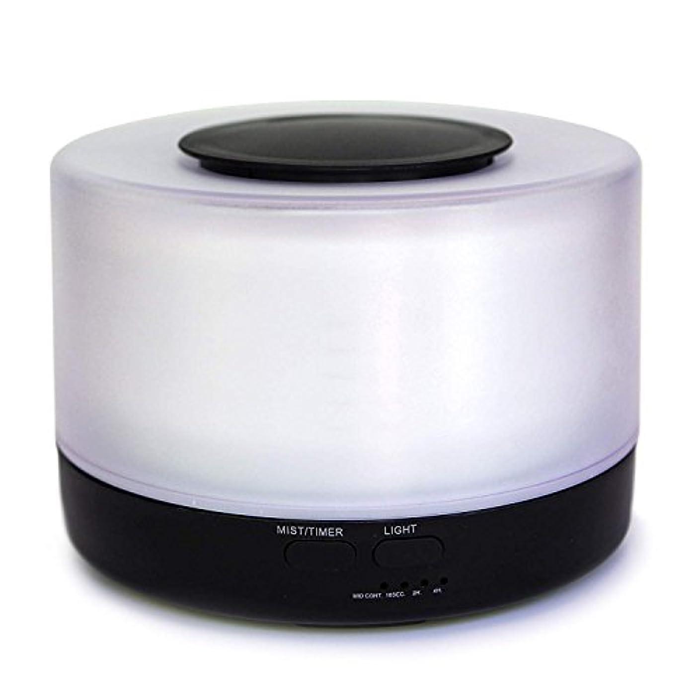 【Amour@Home】超音波式 アロマディフューザー 大容量 加湿器 500ml (ブラック)