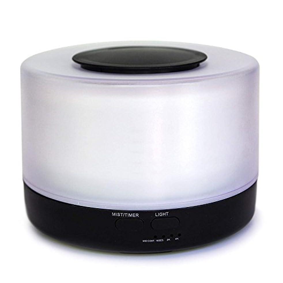これまで一流知り合いになる【Amour@Home】超音波式 アロマディフューザー 大容量 加湿器 500ml (ブラック)