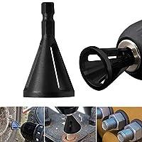 外部の面取り工具のバリ取り、黒のステンレス鋼製六角シャンクドリルビット工具外部の面取り工具のバリ取り4-19mm,1PCS