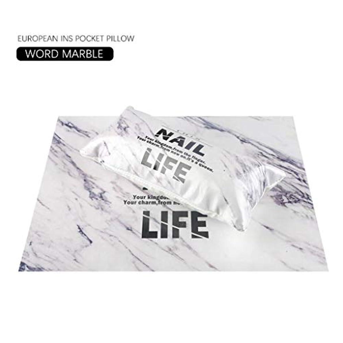 意志が欲しいナビゲーション欧州INS風マニキュアハンド枕ネイルセット手首枕スポンジ (大理石)