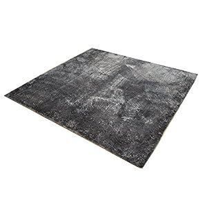 イケヒコ ラグ カーペット 2畳 無地 シャギー調 選べる7色 『ラルジュ』 グレー 約185×185cm(ホットカーペット対応)