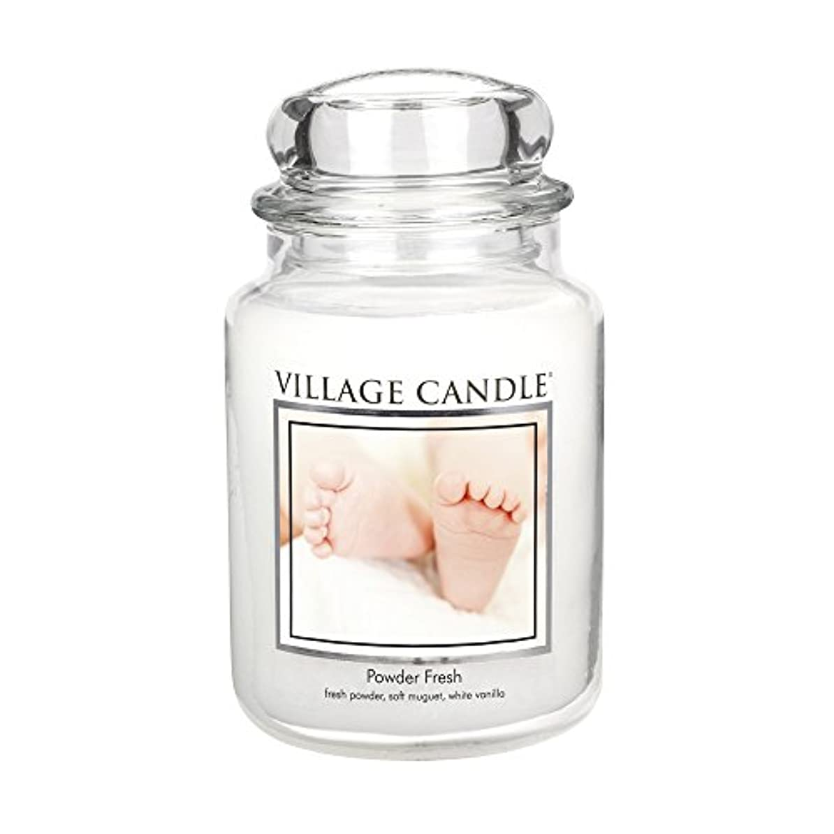 イサカ階九時四十五分Village Candle Scented Large Jar 26oz - POWDER FRESH by Village Candle