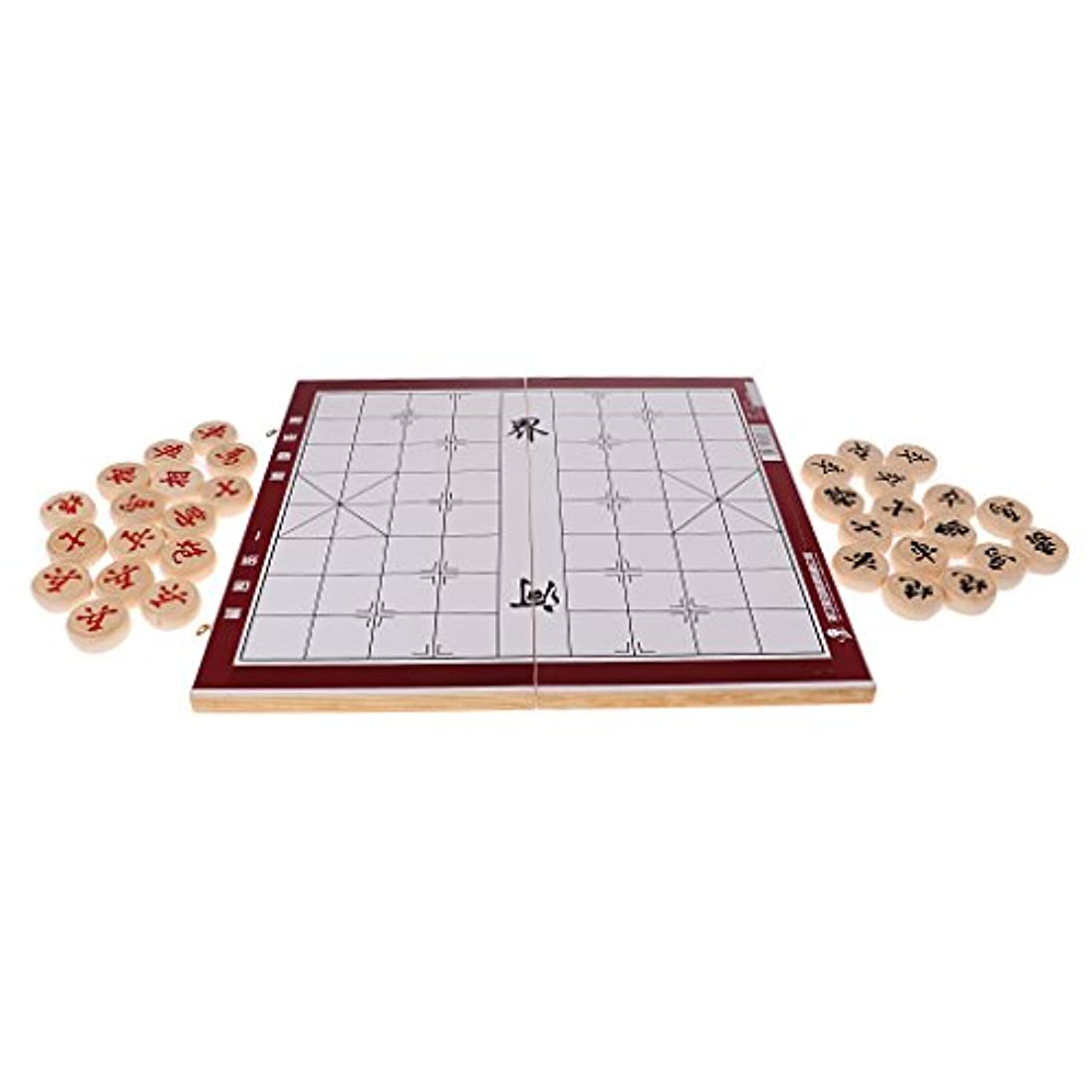 蜜増強シフトBaosity 中国チェス 中国将棋 折りたたみ チェスボード チェスピース 全3選択 - チェス直径4.0cm