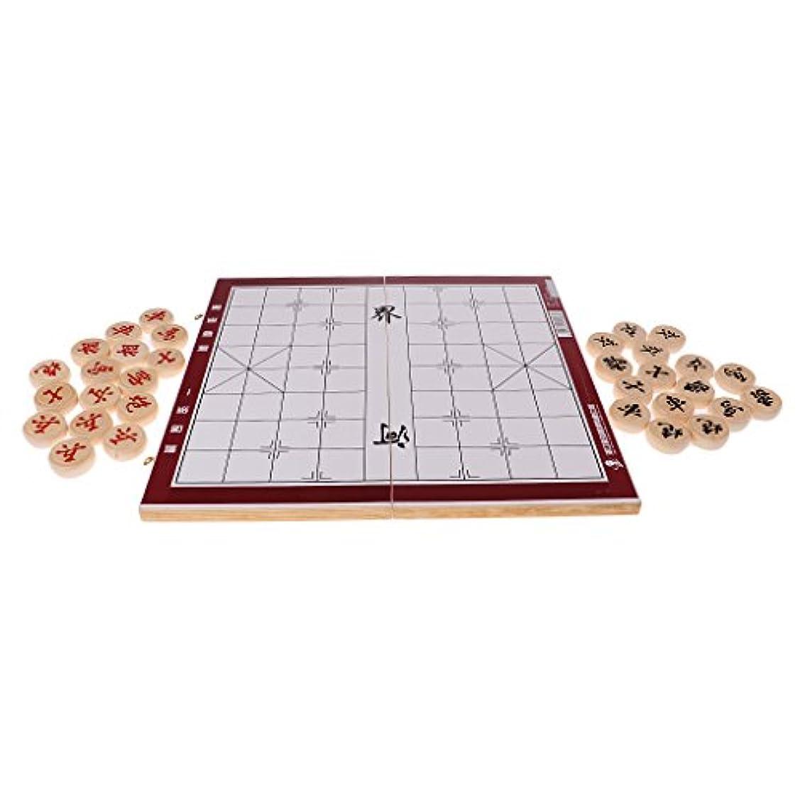 sharprepublic チェスボード チェスピース シャンチー 折りたたみ式 木製 ゲーム チェス愛好家 贈り物 全3選択 - チェス直径4.0cm