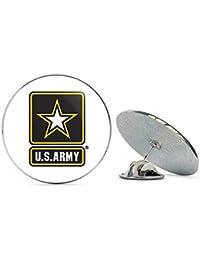 Veteran Pins US Army Star ロゴ メタル 0.75インチ ラペルハット ピン タイタック ピンバック