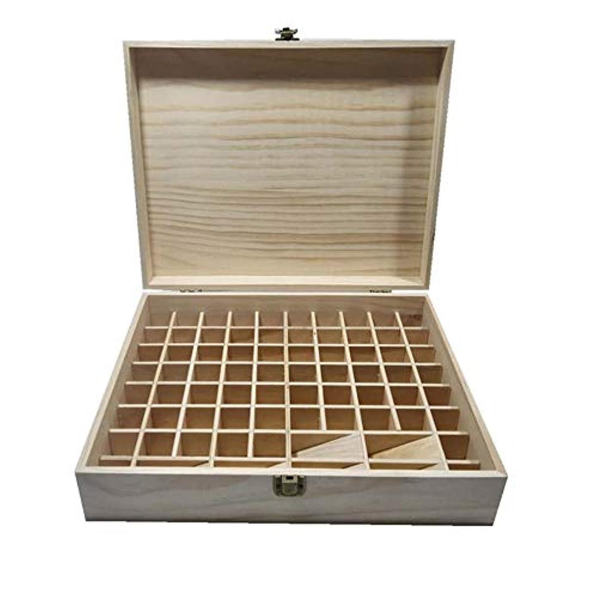 クール引き出す早めるエッセンシャルオイルの保管 74スロットエッセンシャルオイルボックス木製収納ケースは、74本のボトルエッセンシャルオイルスペースセーバーの開催します (色 : Natural, サイズ : 34X27.5X9CM)