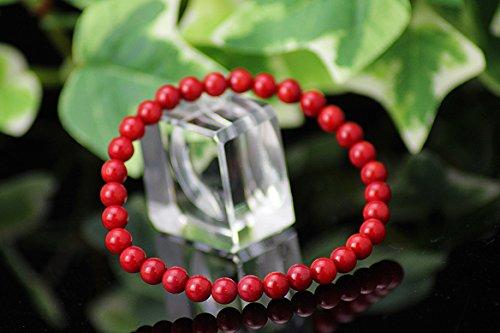 【京珠堂】AAA 紅珊瑚 コーラル 6mm 天然石 ブレスレット
