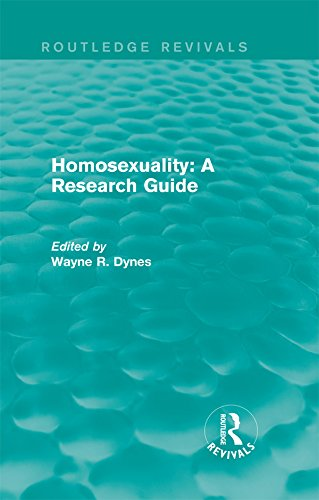 Routledge Revivals: Homosexuality: A Research Guide (1987)