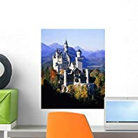 Neuschwanstein Castle Autumn Bavaria Wall Mural by Wallmonkeys Peel and Stick Graphic (18 in H x 14 in W) WM254587 [並行輸入品]