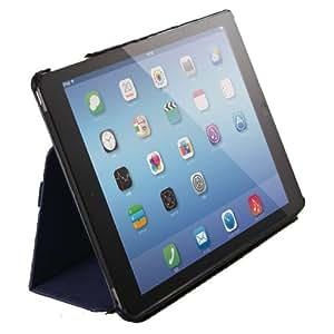 ELECOM iPad Air 2 ソフトレザーカバー 2アングルスタンドタイプ ハンドホールドベルト付き ブルー TB-A14PLF1BU