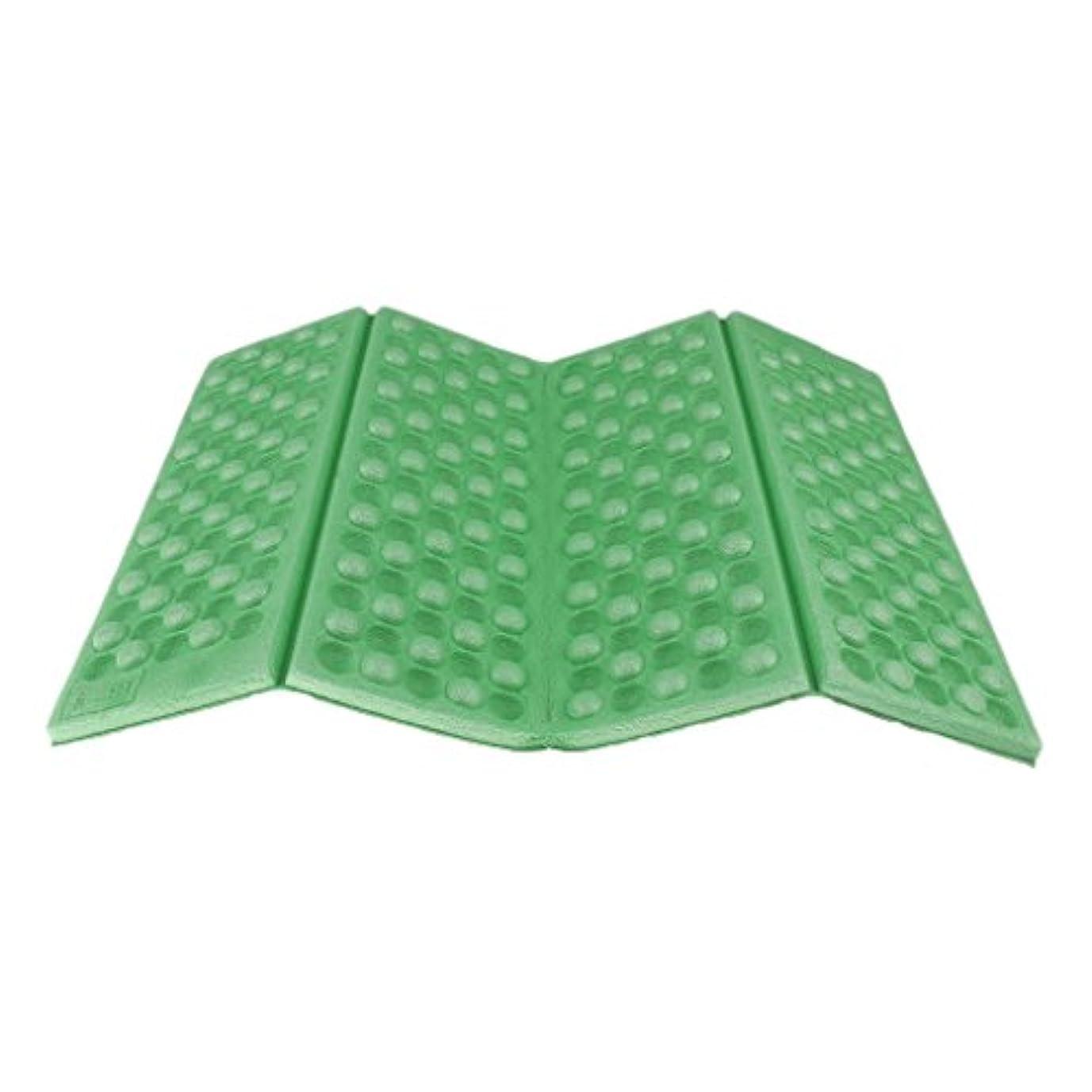 ノーブランド品 2枚 お買い得 携帯 折りたたみ 座布団 クッション シート マット 軽量コンパクト アウトドア (グリーン)