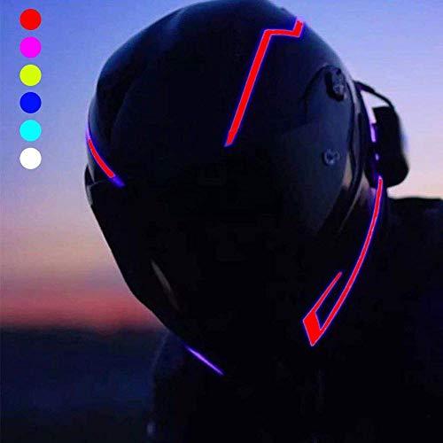 イルミネーション ヘルメット LEDライト 防水 3M 両面 粘着性 テープ オートバイ運転者用 信号灯 点滅灯バー 夜オートバイ 安全のため 汎用 (レッド)