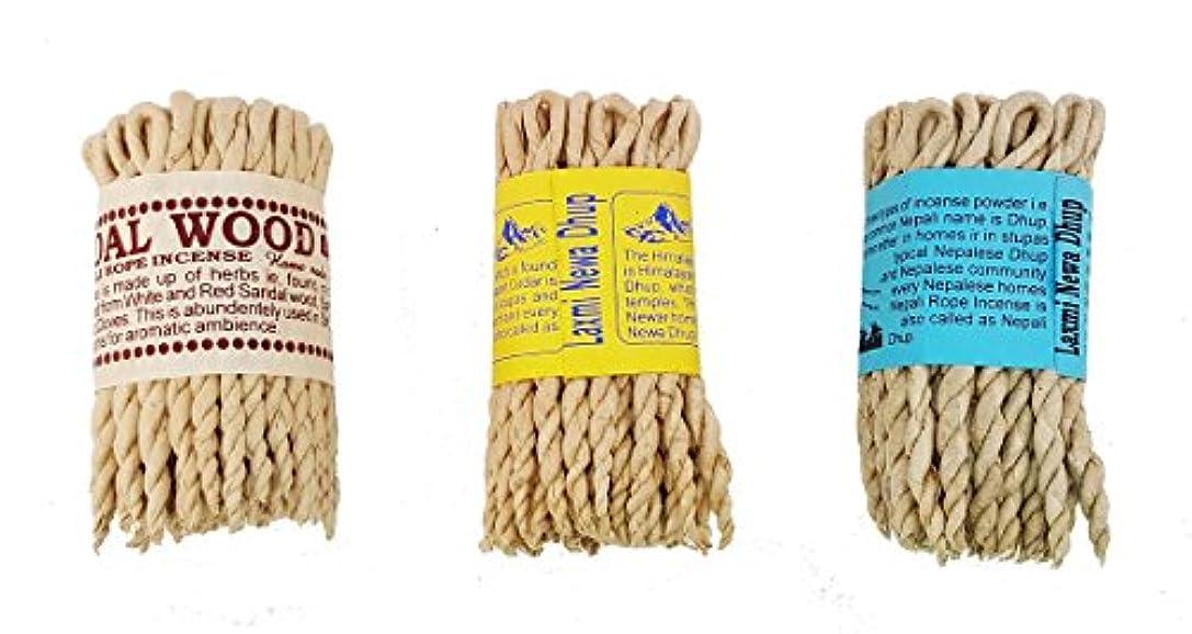 ファン害虫法王ネパール語Rope Incense Bundle of 3