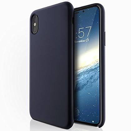 ELTD iPhoneX ケース iPhone Xカバー iPhone X/ iPhone x Edition 全面保護 衝撃防止 軽量簡約スタイル 携帯カバー(デイープブルー)