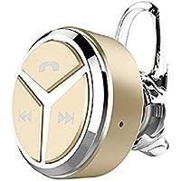 [日本正規品] COOPO JAPAN 左右耳 片耳両耳とも対応 音量調整機能付き 日本語説明書付き 超小型ブルートゥースワイヤレスヘッドセット Bluetooth Wireless Headset 軽量 マイク内蔵 HIFI高音質 ノイズキャンセル CP-Q5-GOLD
