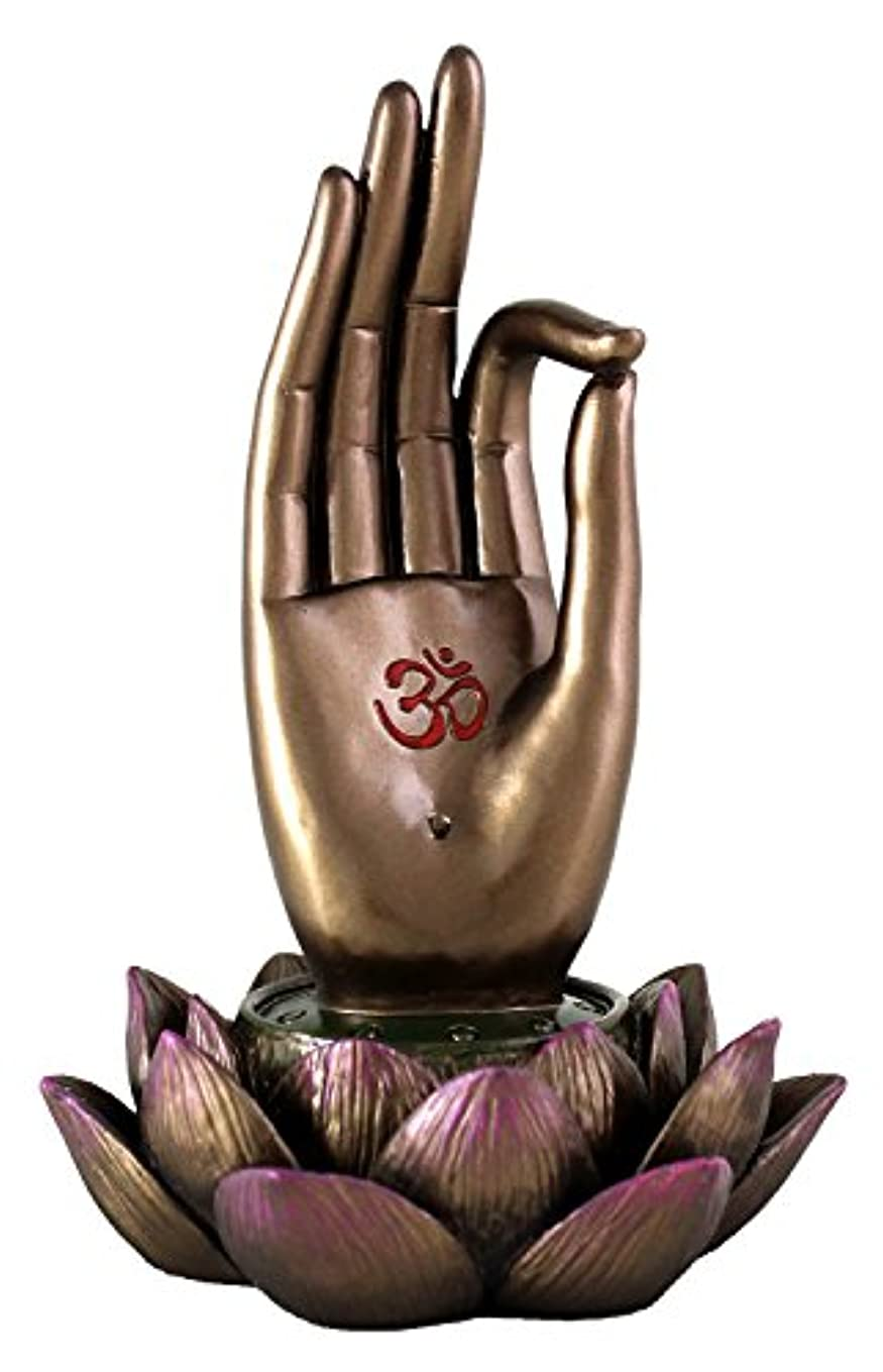 深める期限パンチBuddha Hand and Lotus Flower Vitarka Mudra Incense Holder Incense Burner