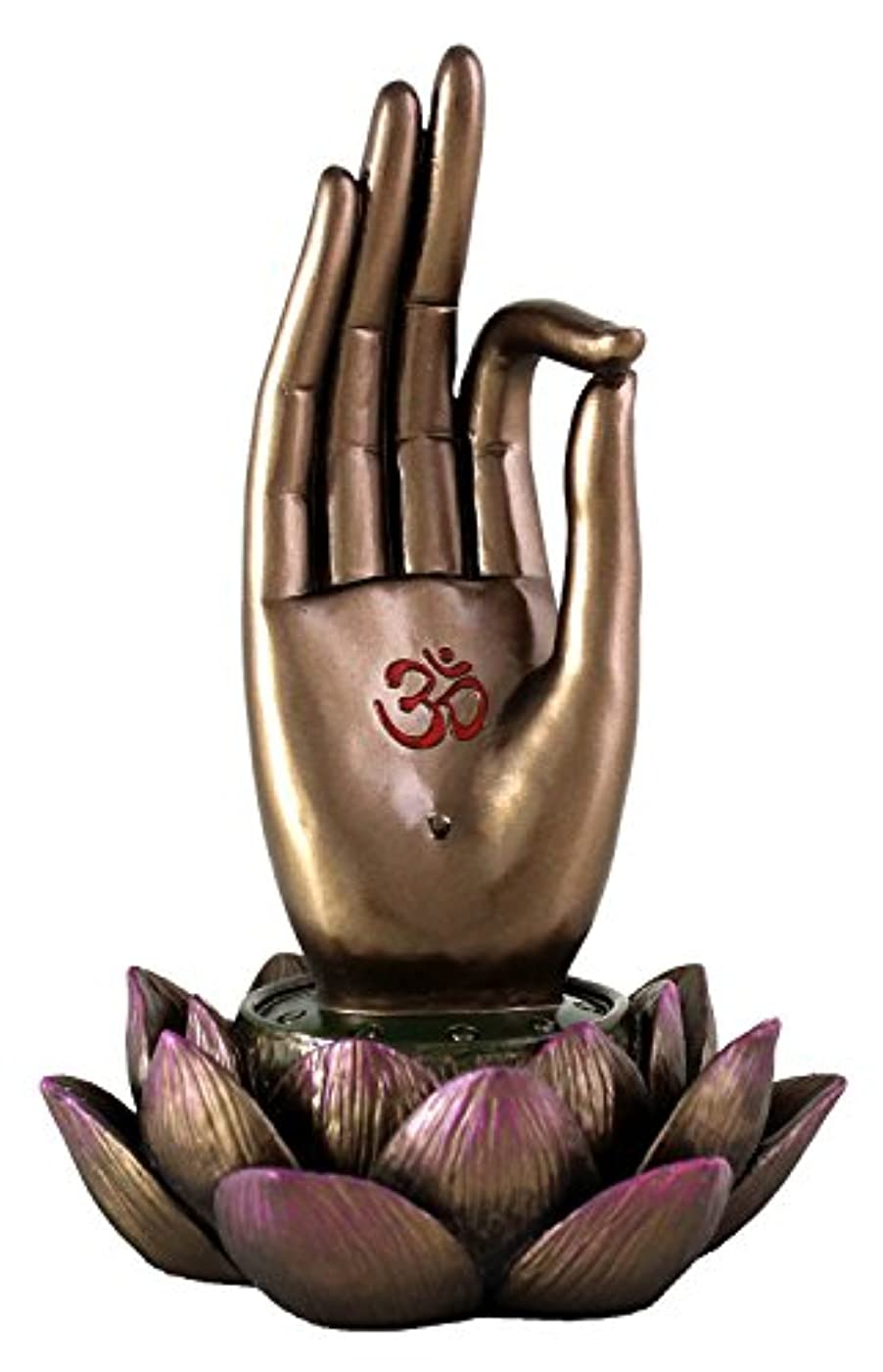 デザイナーしたい大型トラックBuddha Hand and Lotus Flower Vitarka Mudra Incense Holder Incense Burner