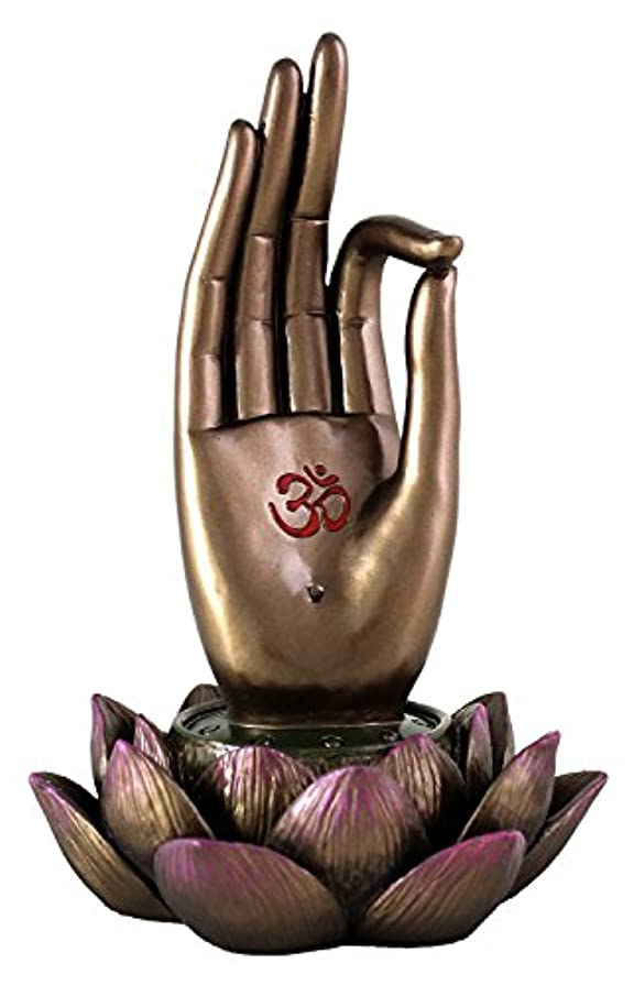蓄積する品種誘導Buddha Hand and Lotus Flower Vitarka Mudra Incense Holder Incense Burner