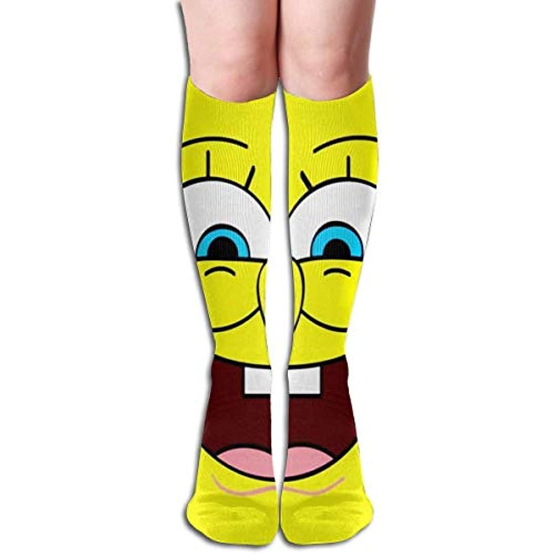 貸し手知性スロープqrriy顔スポンジボブチューブストッキングレディース冬暖かい膝ハイソックスブーツ靴下