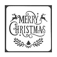 Vi.yo ステンシル図面 テンプレート クリスマス用 塗り絵 DIY 工芸 クリスマスカード 日記 手帳用 クリスマス プレゼント 13*13cm