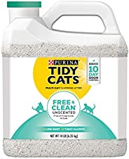 Tidy Cats Free & Clean Unscented Clumping Litter, 6.