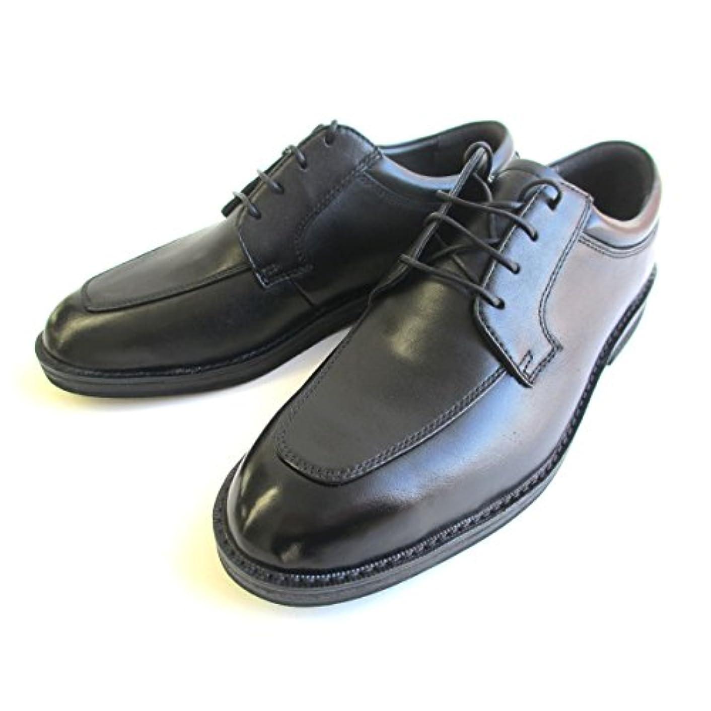 許されるアスリートストレージ[ハッシュパピー] Hush Puppies 885 メンズ 天然皮革 ビジネスシューズ プレーントゥ スムースクロ レースアップシューズ フォーマル靴 仕事靴 ブラック