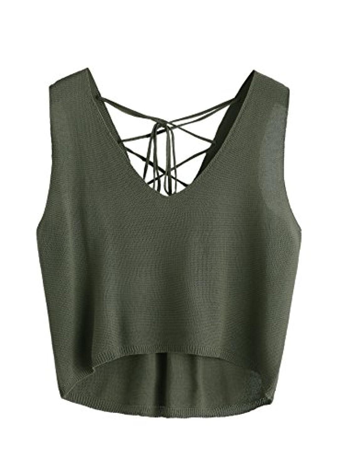 ミュート着る排除MakeMeChic SHIRT レディース カラー: グリーン