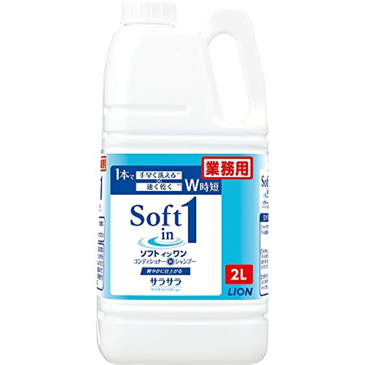 スチュワーデス検査官免除【大容量】ソフトインワンシャンプー 2L