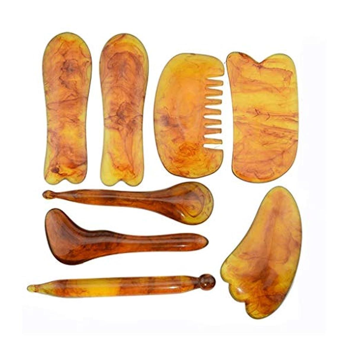 海軍かんがい誤ってGua Shaマッサージツール柔らかい組織の筋肉剥離エッジ首、顔、背中と足のための削りツール