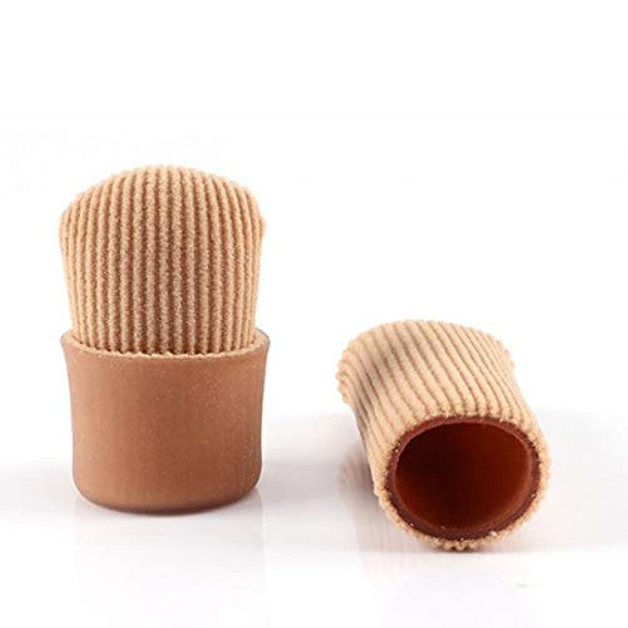桃おもしろい段落Open Toe Tubes Gel Lined Fabric Sleeve Protectors To Prevent Corns, Calluses And Blisters While Softening And...
