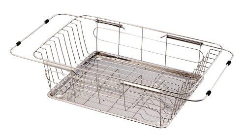 パール金属 食器 水切り かご スライド式 ステンレストレー付 ステンレス ラクエラ H-6619