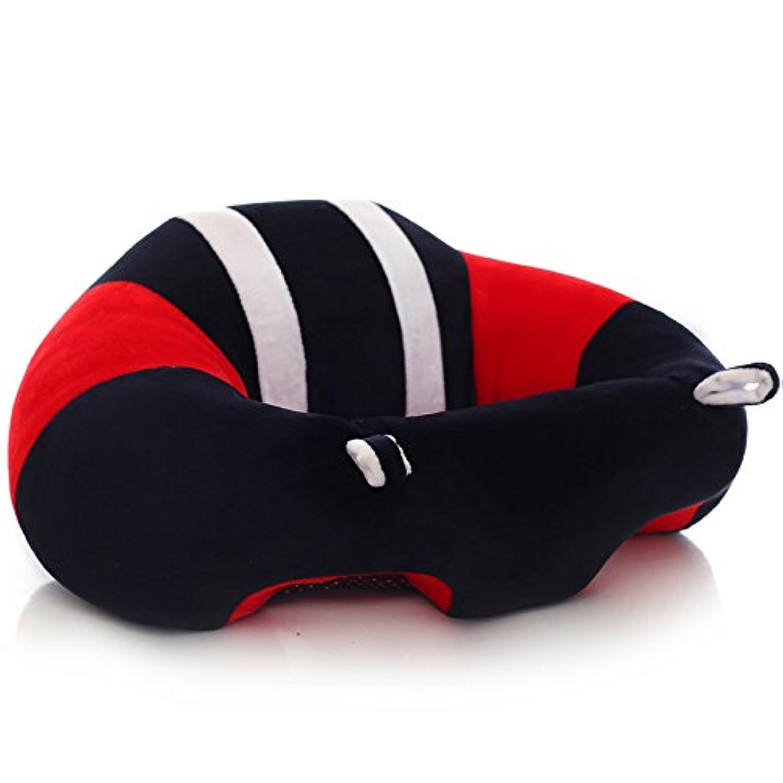 juiokkベビーサポートシート子供ソフト車用枕クッション枕子供のギフトぬいぐるみおもちゃ、L レッド JKWJ10129