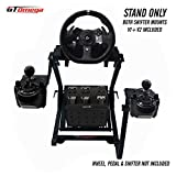 GT Omega Racing Wheel Stand for Logitech G920 Driving Force Gaming Steering Wheel, Pedals & Gear Shifter Mount V1, PS4, Xbox, Ferrari, PC - Foldable, Tilt-Adjustable to Ultimate Sim Racing Experience