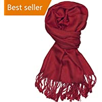 Women's soft solid colors cashmere Fall Winter scarf shawl wrap tassel scarf