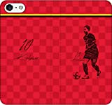iPhone/Xperia/Galaxy/他機種選択可:サッカー/グラフィティ/へのへのもへじタッチ手帳ケース(デザイン:ベルギー/10番_01) 02 iPhone5c