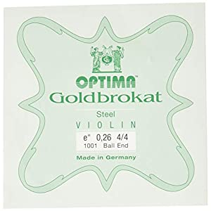 ゴールドブラカット バイオリンE線0.26ボールエンド(6本セット)