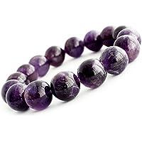 One&Only Jewellery アメジスト 12mm ブレスレット 天然石 紫水晶 パワーストーン 2月誕生石 (Lサイズ)