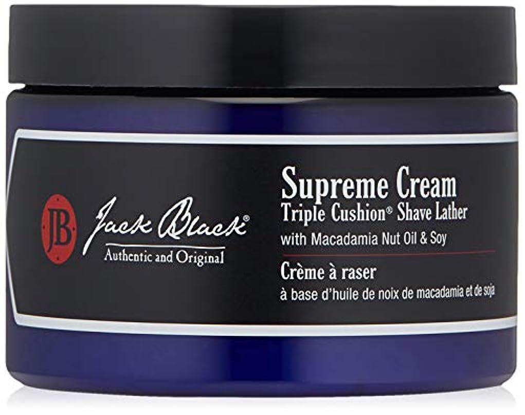 拾う肥料感じジャックブラック Supreme Cream Triple Cushion Shave Lather 270g/9.5oz並行輸入品