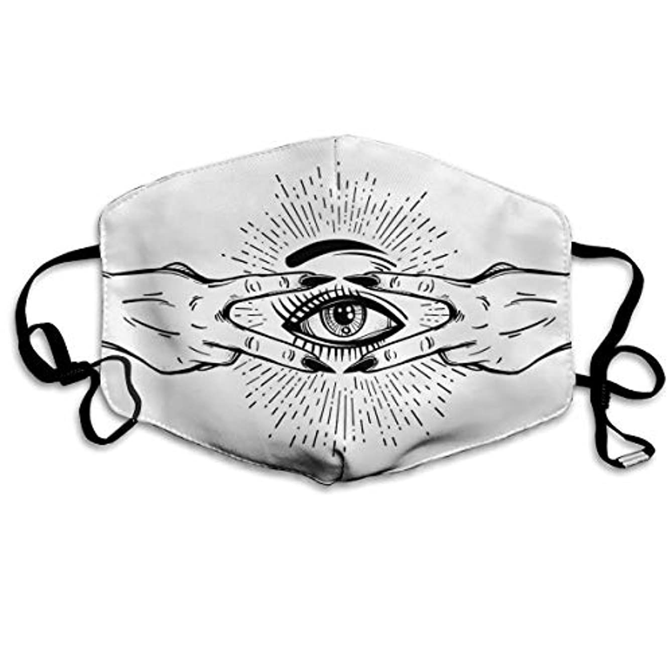 変数柔らかい探すAll-Seeing Eye マスクマスク防塵抗受粉不凍液再利用可能な手洗い保護フェイシャルユニセックス