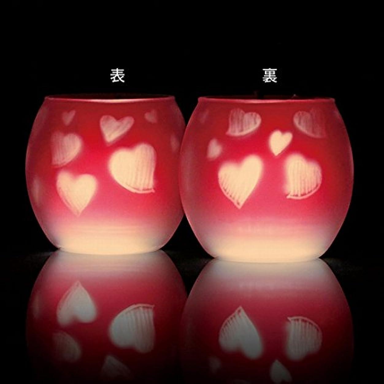 照らす手がかりいくつかのカメヤマキャンドル(kameyama candle) ファインシルエットグラス【日本製キャンドル4個付き】「スイートハート」