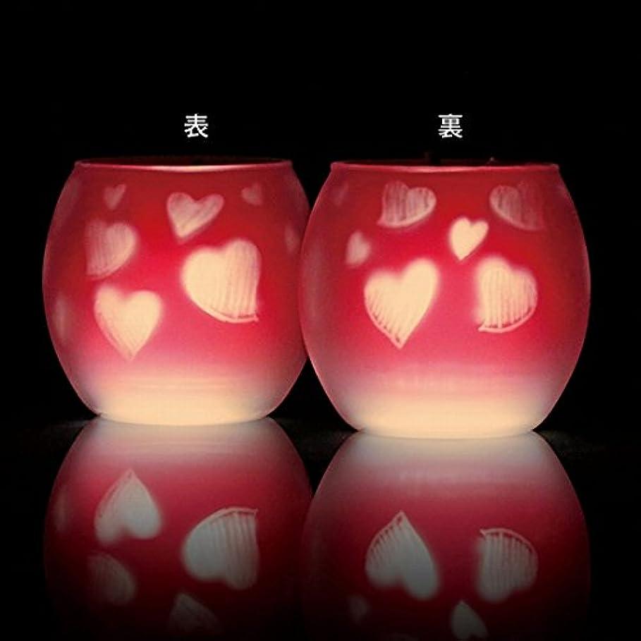 フレットメロドラマ市長カメヤマキャンドル(kameyama candle) ファインシルエットグラス【日本製キャンドル4個付き】「スイートハート」