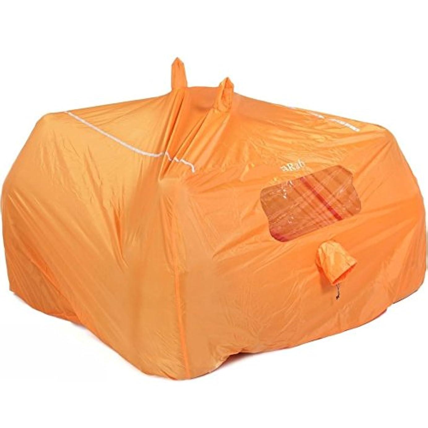 十分に剃る可塑性Rab(ラブ) タープ ツェルト シェルター ビバーク 緊急用 [1~2人用] 超軽量コンパクト 320g グループシェルター 2 MR-49-OR-2 オレンジ