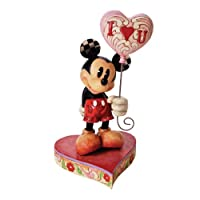 Disney Traditions by Jim Shore Mickey Mouse withハートバルーンStone Resin Figurine