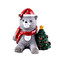 クリスマス動物マイクロ風景、マイクロ装飾ミニ風景小型動物用レジンミニチュアアクセサリー