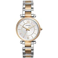 Fossil Women's Quartz Watch analog Display and Stainless Steel Strap, ES4302