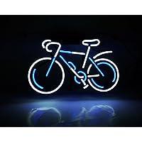 """Desung新しい14""""自転車バイクカスタムデザイン装飾アクリルパネルハンドメイドRealガラスチューブネオンライトsign-uniqueアートワーク。zb43"""