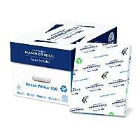 Hammermill/HP EVERYDAY・ペーパー86790Greatホワイト100リサイクルコピー用紙、20lb、8–1/ 2x 11、ホワイト、5, 000シート/カートン
