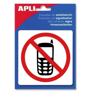 【APLI】サインステッカー 【携帯電話禁止】(AP-00848)