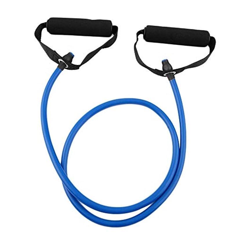 メモマイルド釈義フィットネス抵抗バンドロープチューブ弾性運動用ヨガピラティスワークアウトホームスポーツプルロープジムエクササイズツール(Color:blue)