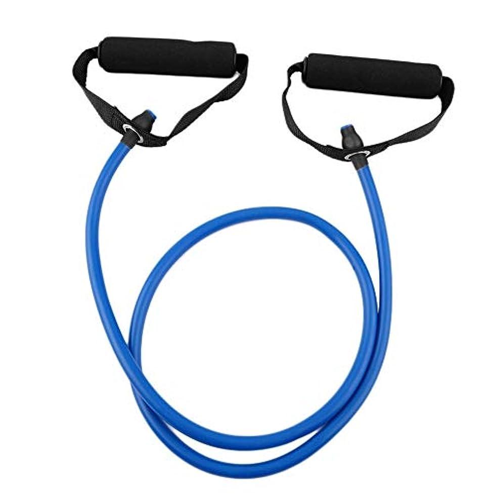 目指す領収書うれしいフィットネス抵抗バンドロープチューブ弾性運動用ヨガピラティスワークアウトホームスポーツプルロープジムエクササイズツール(Color:blue)